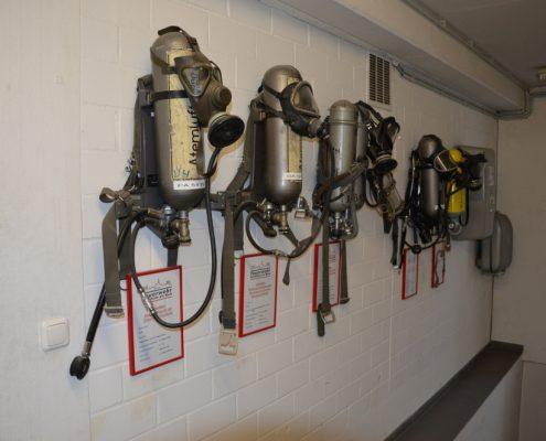 Gerätehaus der Feuerwehr Hochheim, Atemschutzgeräte