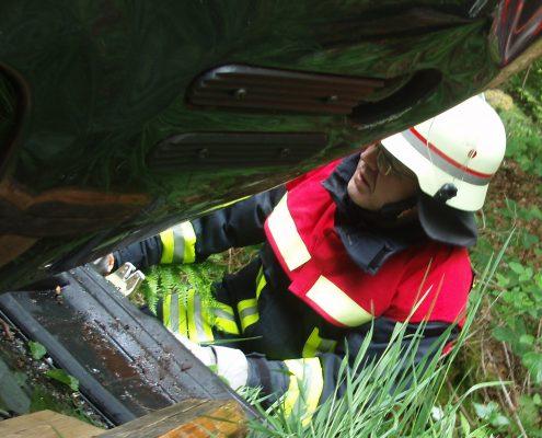 Feuerwehrübung Verkehrsunfall