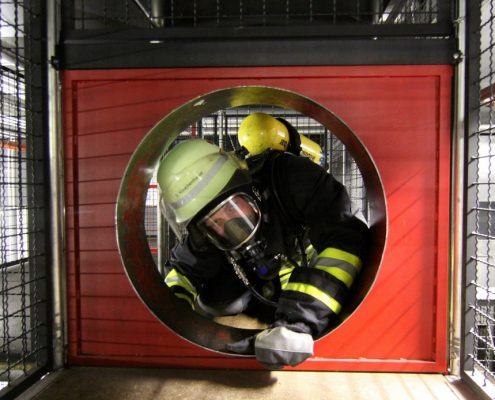 Gerätehaus der Feuerwehr Hochheim, Atemschutzstrecke