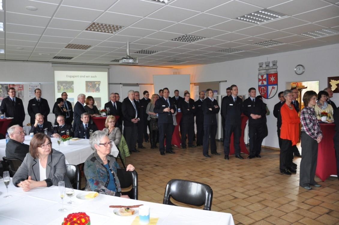 Feuerwehr Ehrung Fest Gäste