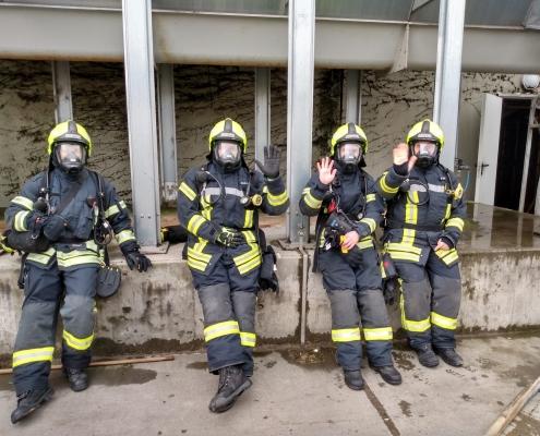 Atemschutzgeräteträger in Bereitschaft